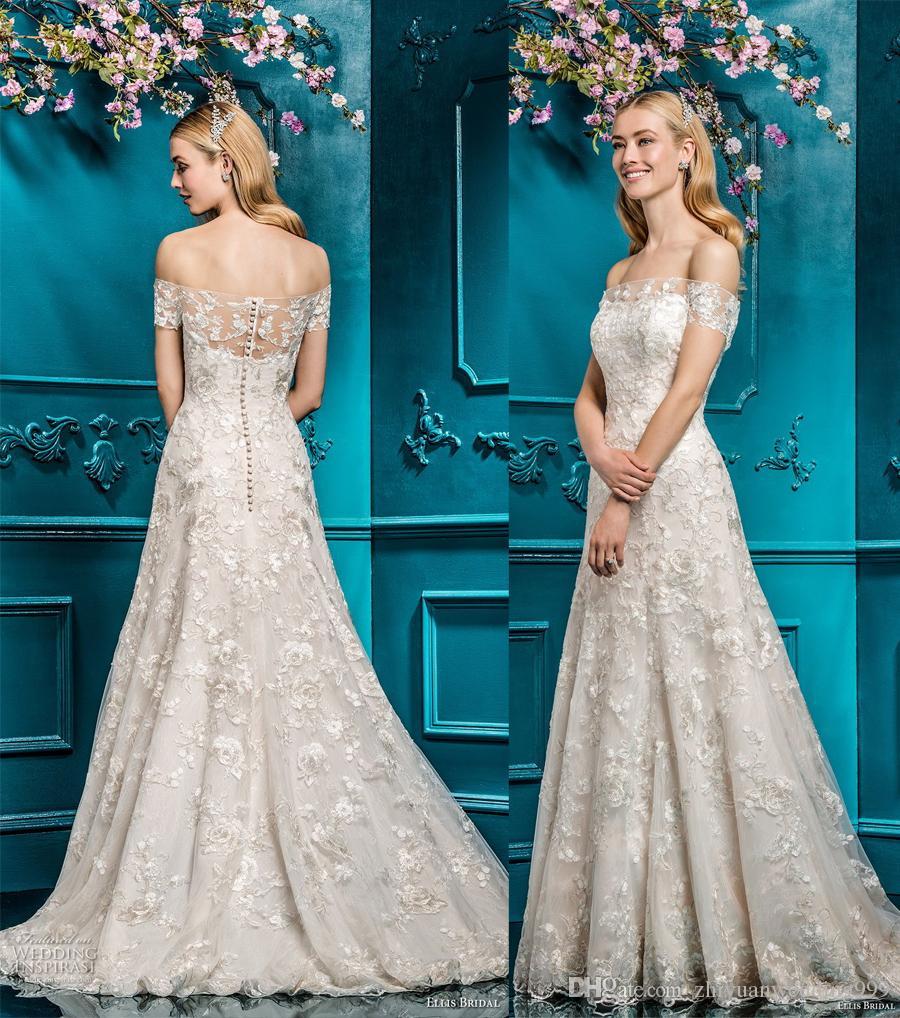 Discount Romantic Elegant A Line Wedding Dresses 2018 Ellis Bridal ...