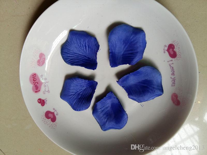 Royal Blue Wedding Table Decoration Silk Rose Petals Flowers Confetti 4.5*5cm Supplies Wholesale