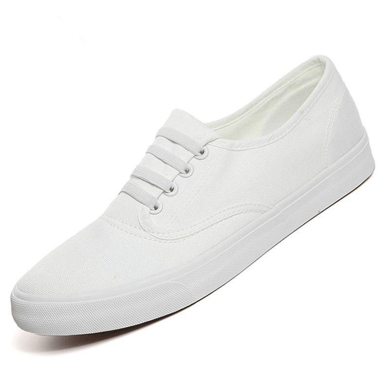 Men Shoes Fashion Black white Men Loafers Canvas Shoes Breathable ... b80786f9349b