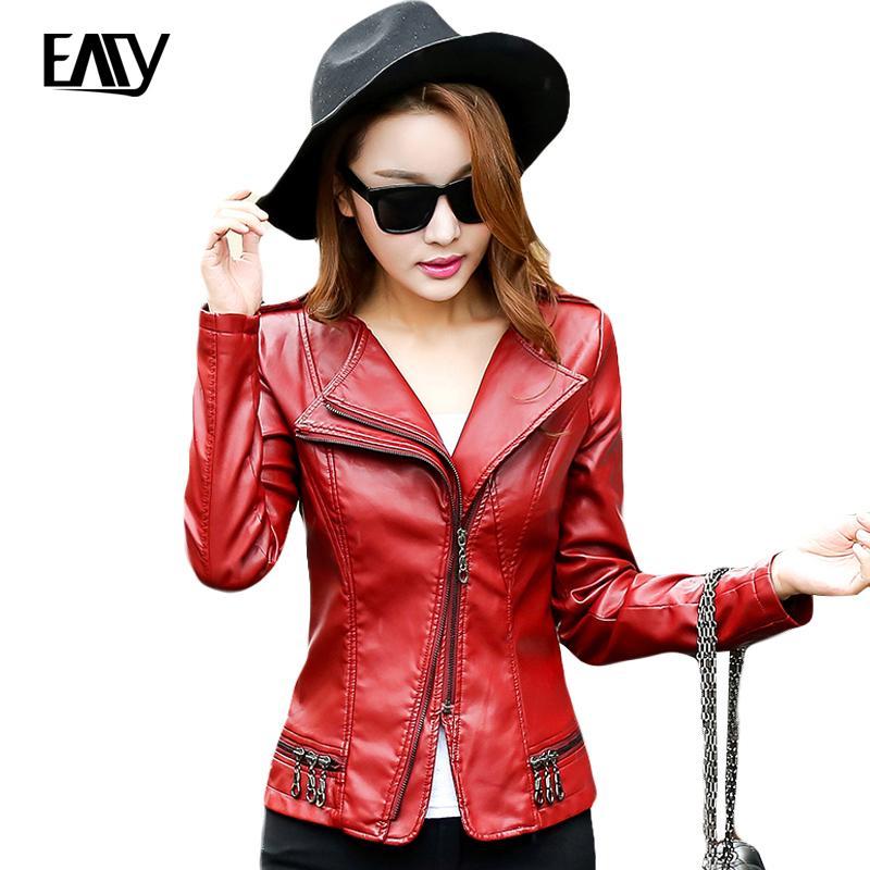 Wholesale Plus Size Leather Jackets For Women Pu Short Jacket ...