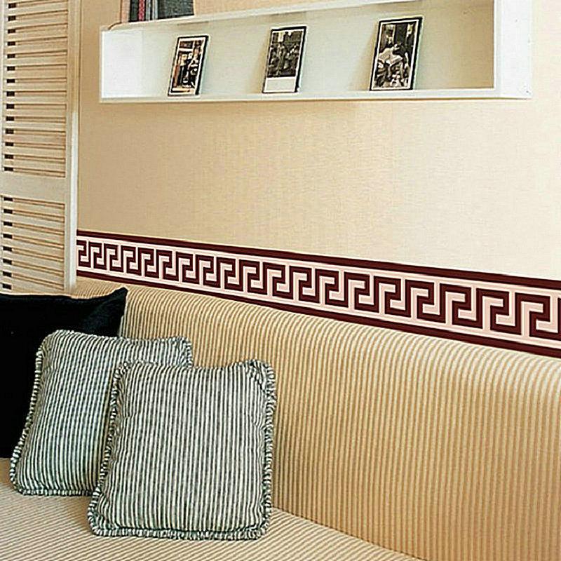 Wall Border Liner Sticker Decorazione murale Decorazione della casa fai da te Check Art Murale Wallpaper Decor Living Room Decoration