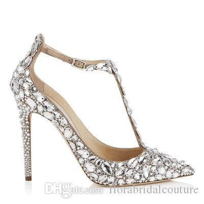 2018 Bling Sparkle Luxurious Wedding Heels Bridal Shoes Rhinestones  Crystals Evening Party Wedding Shoes Heels Pumps Sexy Pointed Heels Formal  Shoes Cheap ...