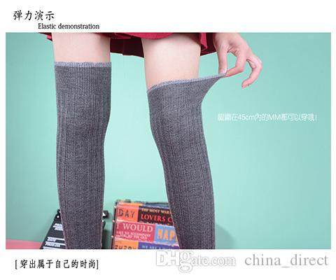long korea over knee leg warmers Dance socks Warm up knitted booty Gaiters Boot Cuffs Socks Boot Covers Leggings Tight #3939