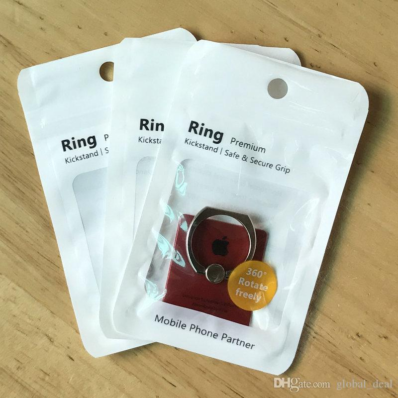 OPP Bag 7.5*12cm Zipper Plastic Retail bag Package hang hole Poly packaging for phone ring stand