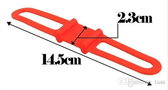 Bicicleta Guiador Silicone Strap Bike Titular Luz Dianteira Fixação Elástica Corda Elástica Ciclo Bicicleta Tocha Lanterna Bandages shippi livre