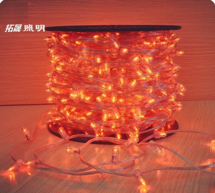 100 m carrete 12 V navidad led cadena de árbol luz cristalina clip de luces 666 bombillas cortable para el banquete de boda decoración de jardín