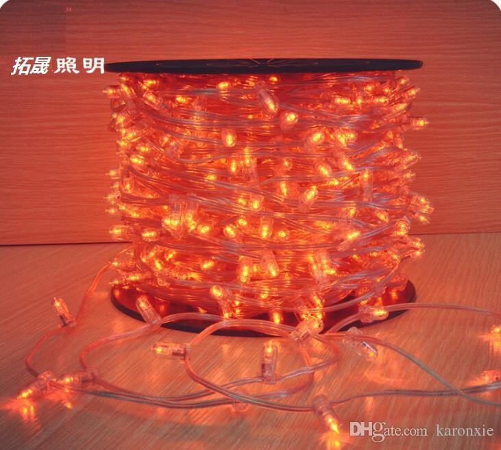 100 m spool 12V christmas led tree string luce clip di cristallo luci 666 lampadine cuttable la festa nuziale decorazione del giardino