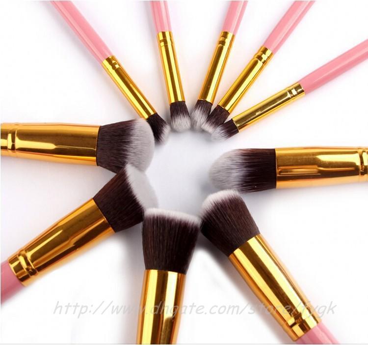 Pincel de cosméticos conjunto De Madeira Lidar Com Pincéis de Maquiagem Sintética maquiagem pincéis make up toalete ferramentas escova facebrush e sobrancelha