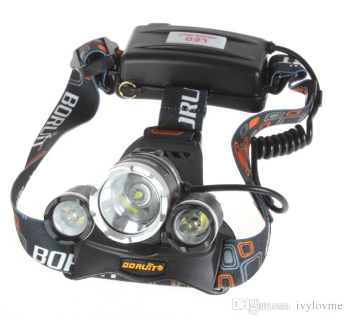 2016 Hot Selling 5000lm CREE XML T6+2R5 LED Headlight Headlamp Head Lamp Light Flashlight 18650 Torch Camping Fishing Rechargeable Lantern