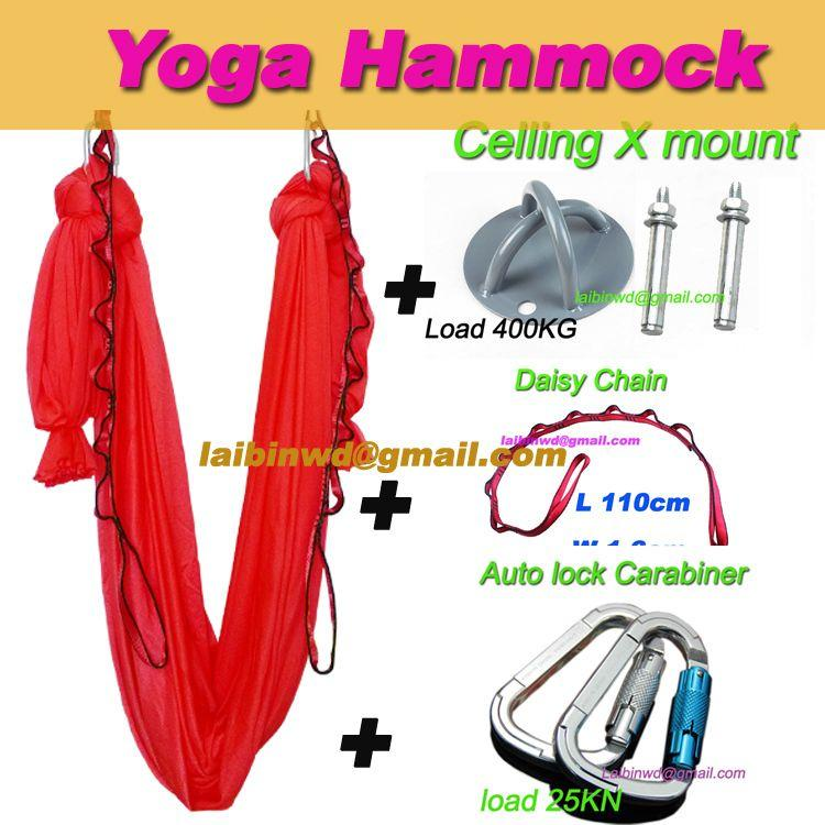 top quality aerial yoga hammock inversion swing trapeze yoga  5m auto lock carabiner daisy chain celling mount body bands workout programs from relaxes     top quality aerial yoga hammock inversion swing trapeze yoga  5m       rh   dhgate