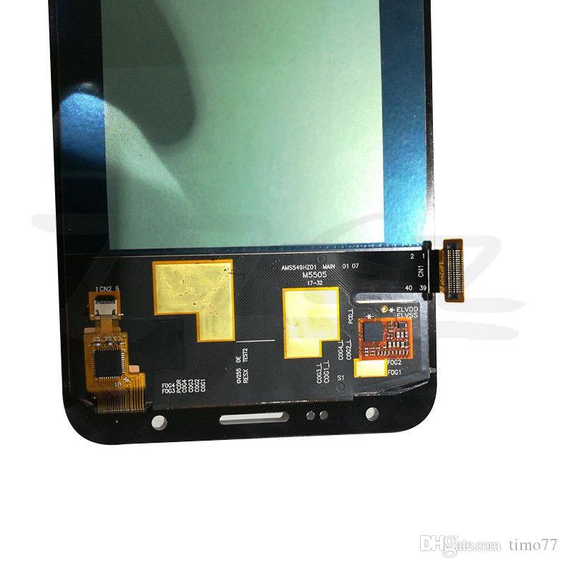 Süper AMOLED LCD'ler Için Tam Sayısallaştırıcı Samsung Galaxy J7 neo J701 J701F J701M J701MT LCD Ekran Dokunmatik Ekran Meclisi ile tamir aracı