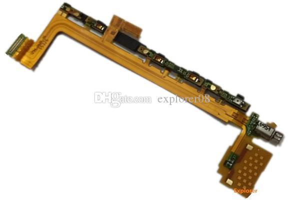 Sony Xperia Z5 Kompakt mini VS Z5 Için test Geçti Premium Güç Ses Anahtarı Düğmesi Ana Parmak Izi sensörü Flex Kablo OME Yedek parça