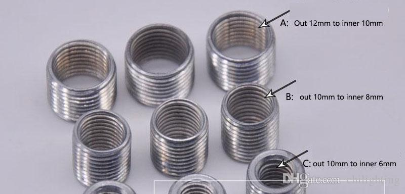 2019 Tooth Tube Adapter M8 To M10 M6 M12 For Metal