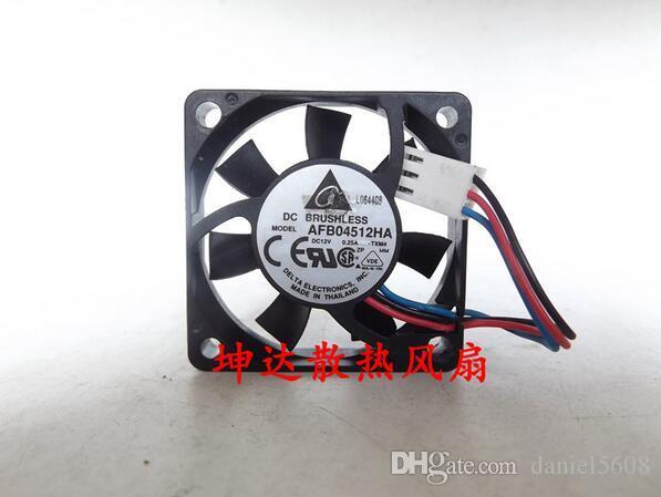 Ventilateur de roulement à billes à trois fils d'origine Delta AFB04512HA 4510 12V 0.25A