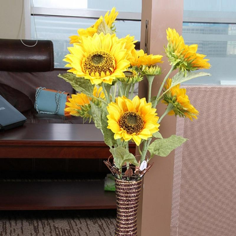 Sunflower Home Decor: Discount 3heads/Bouquet Beautiful Design New Artificial