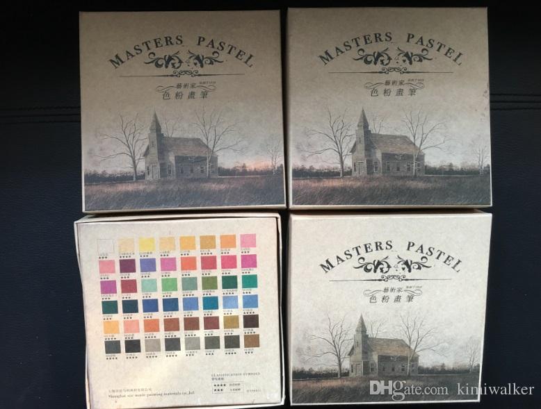 48 Renk Marie'nin Suluboya Resim Boya Kalemi Tebeşir Su Renk Boya Yumuşak Pastel Sanat Çizim Seti Kırtasiye Öğrenci için
