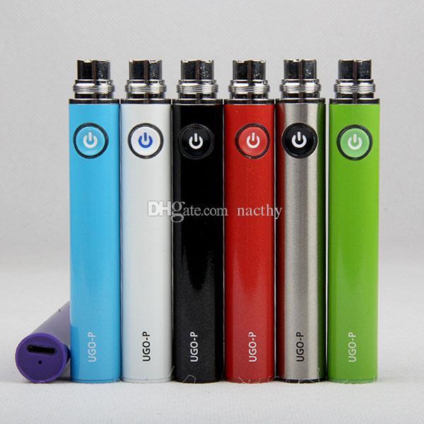 UGO-P Battery 650mah EVOD EGO ugo p E Cig Battery for iphone port Apple button USB passthrough fit 510 EGO Evod dct Atomizer