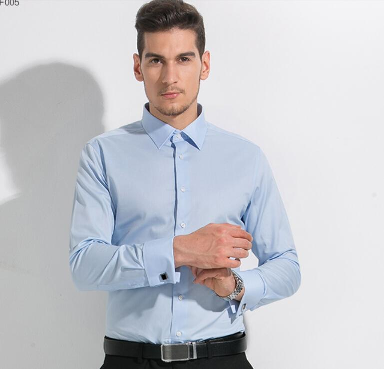 Light Blue Mens Shirt Business Leisure Mens Long Sleeve Shirts ...