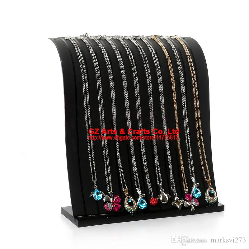 High-end two-color 12 Booths Transparent Acrylic Necklace Display Stand Bracelet Holder Pendant Display Stand Jewelry Display stand
