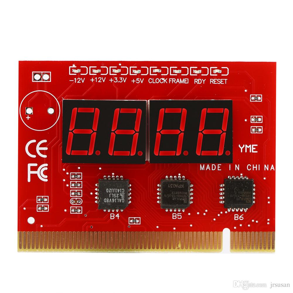 Computer Motherboard LED 4 Digit Analysis Diagnostic Testing POST Card PCI for Desktop and Laptop PC Test Cards