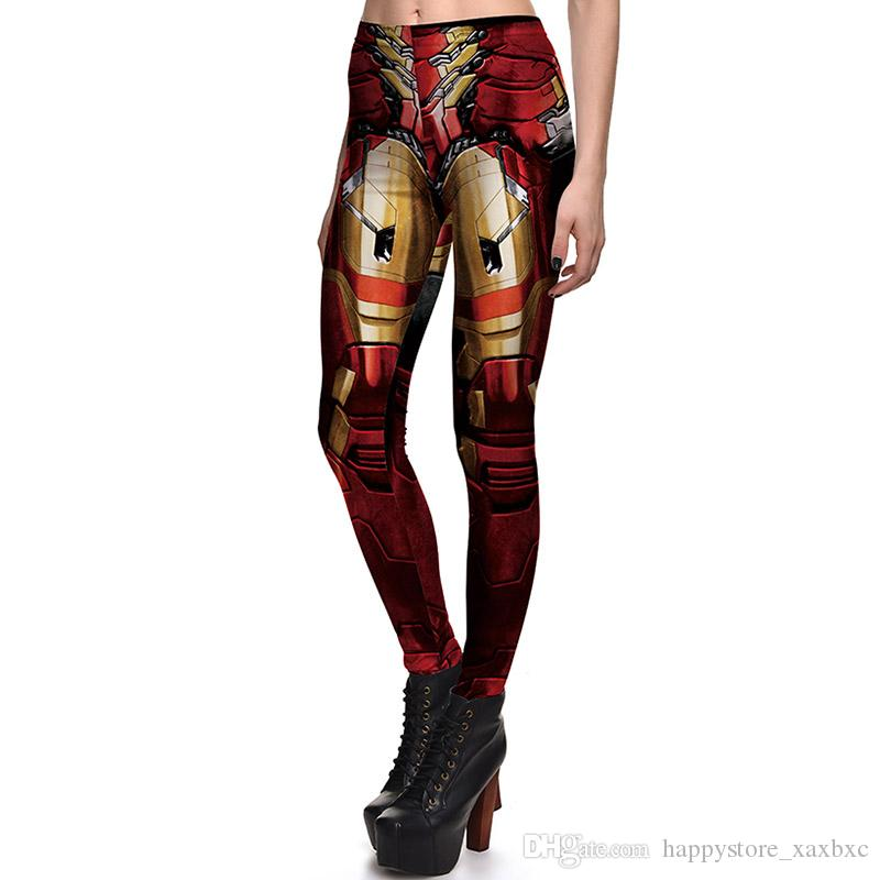 2017 NEW 3759 Superhero The Avengers Iron Man 3D Prints Sexy Girl Pencil Yoga Pants GYM Fitness Workout Polyester Women Leggings Plus Size