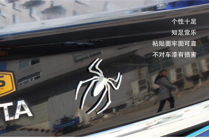 Moda 10 pz / lotto Metallo Camion Car Sticker Decor Styling Fresco 3D Spider Emblem solido Auto Camion Logo Adesivi Decalcomania di trasporto libero di accesso auto