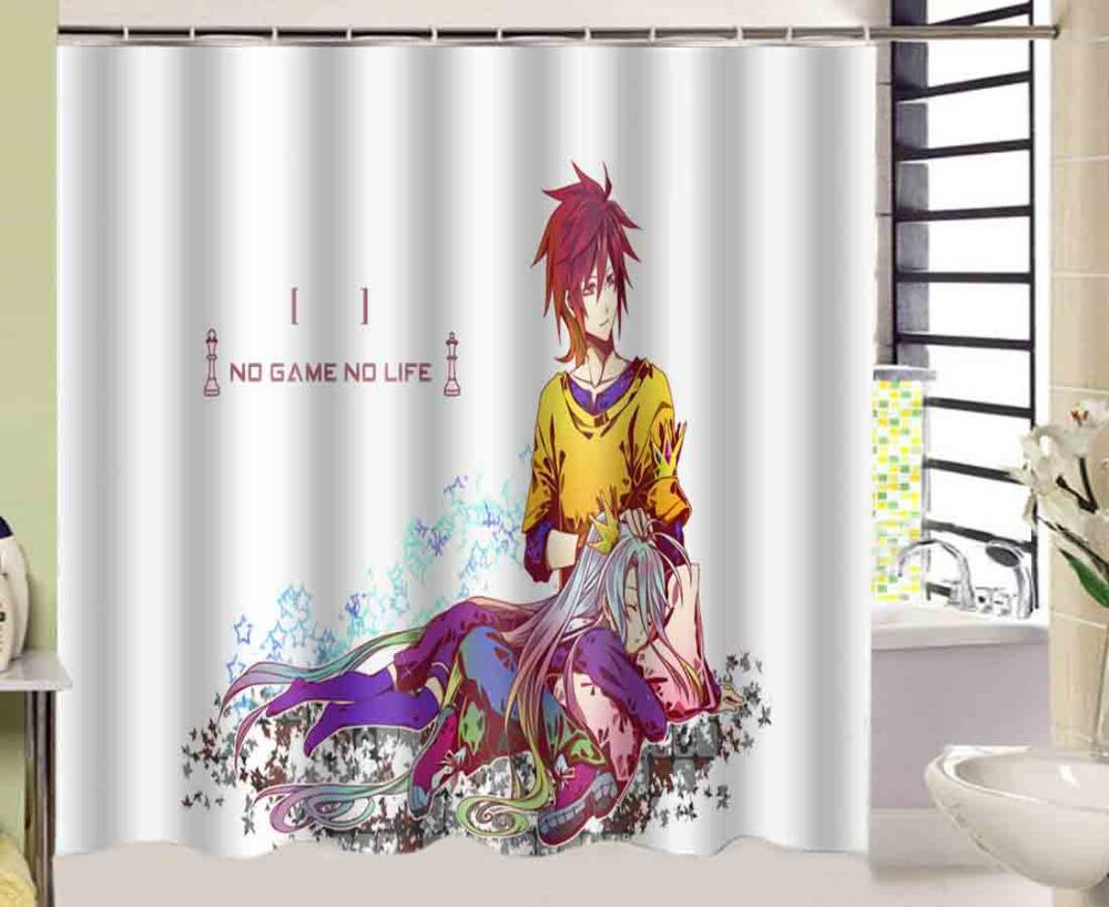 Online Cheap Anime No Game No Life Shower Curtain 180*180cm ...