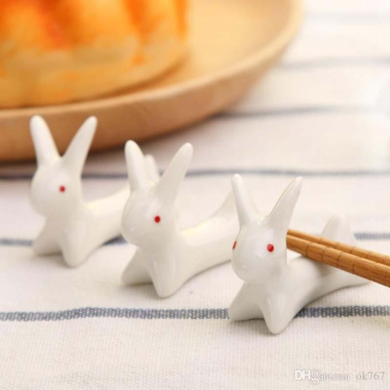 Wholesale Ceramics Chopsticks Spoon Forks Knife stent home kitchen table chopsticks Rack animal ornaments