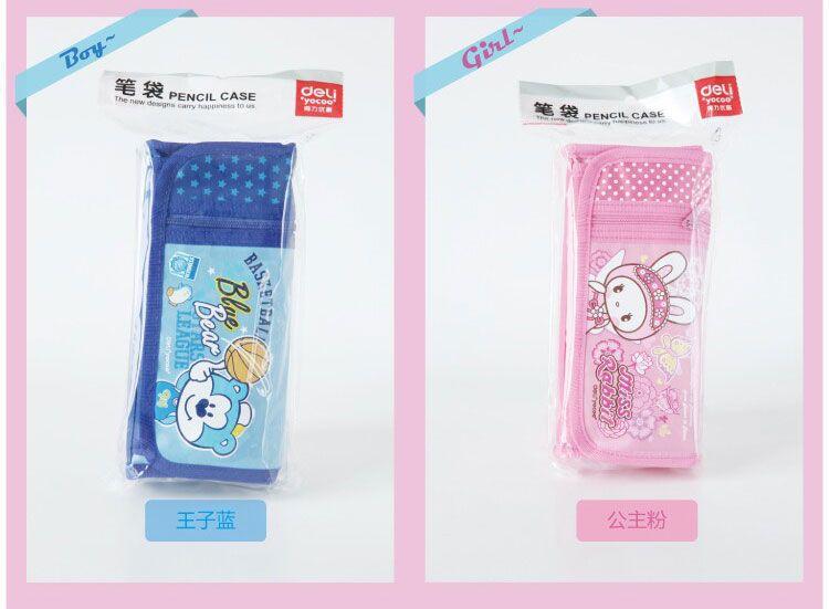 Korea stationery bear rabbit pencil bag Lovely Cartoon boy girl large-capacity pencil case Cosmetic bag Student gift