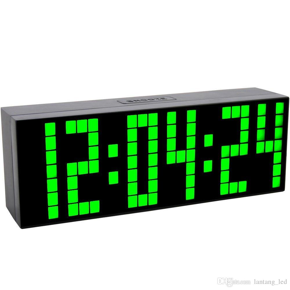 Best big font digital led wall alarm clock calendar timer clock see larger image amipublicfo Gallery