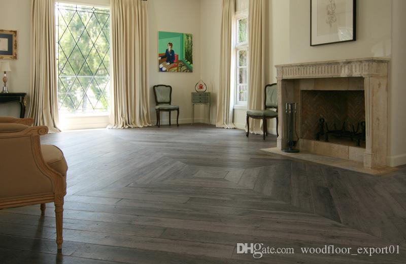 Antique Oak Wood Flooring Ship Wood Flooring Large Living Room Floor