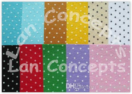 Colorful Printed Polyester Felt Sheets Fabric Nonwoven Sheet for DIY Craft Work - 150x150x1mm 108sheetswholesale