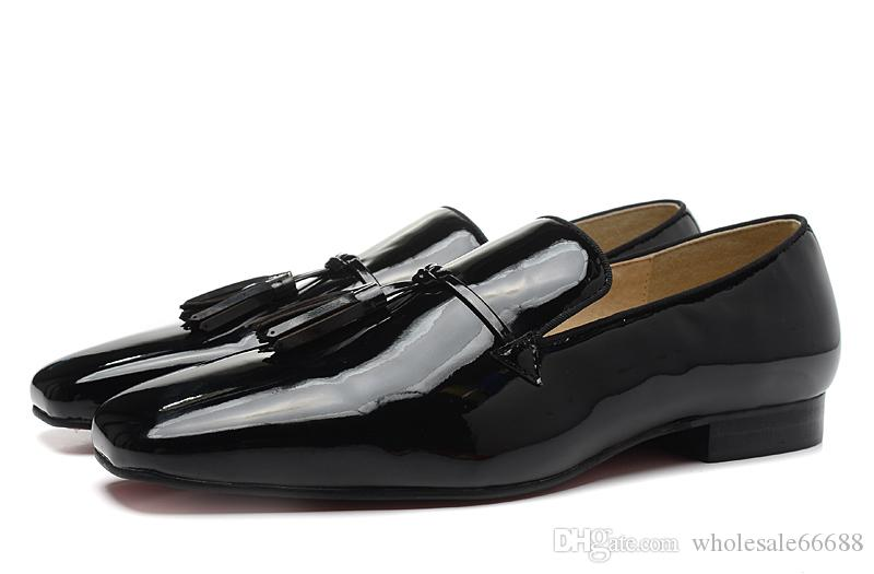 bf61d9c1bc68 New Men S Black Patent Leather Tassel Business Dress Shoes