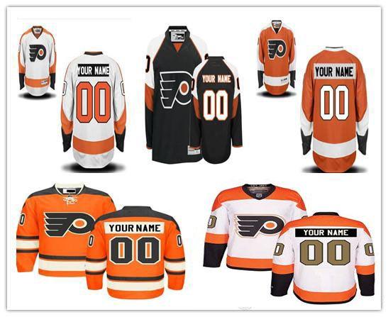 b5aa480599c 2019 Stitched Custom Philadelphia Flyers Mens Womens Youth White Third 50th  Gold Customized Black Orange Stadium Series Ice Hockey Jerseys S 4XL From  ...