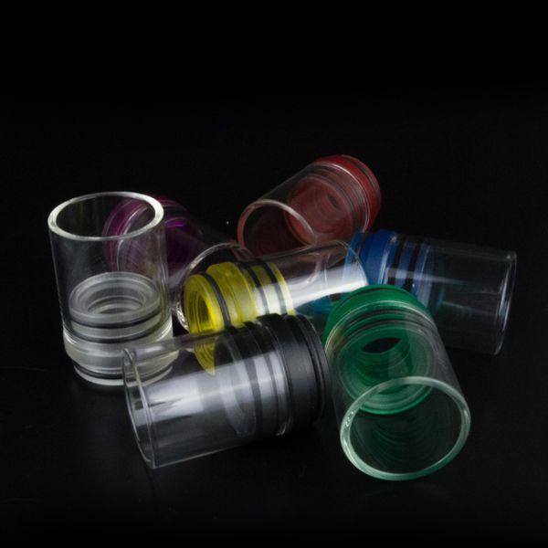 Reiche Farben Glas Stil Tobh Atty Tropfspitze Chuff Enuff Tropfspitzen für RAD Patriot Vulcan Unendliche CLT Stiller Tobh Atty v2 plume schleier doge