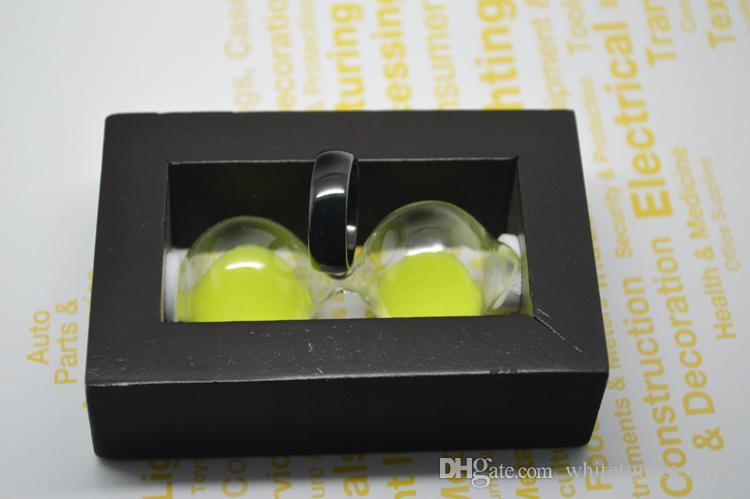 10st / mycket varm försäljning klassisk svart kupad volframring 8mm bredd komfort passform kobolt fri