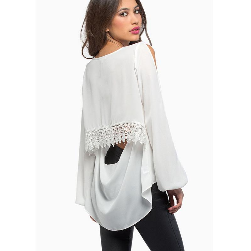bcc6ee9ad07b5 Off Shoulder Lace 2015 New Design Women Blouses   Shirts Ladies Tops ...