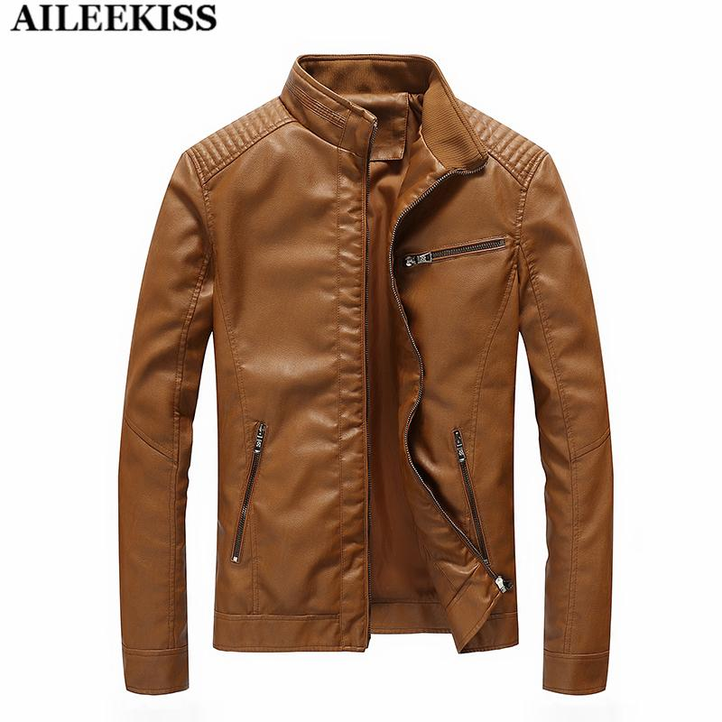 b7c751802f 2019 Wholesale Autumn Winter Motorcycle Leather Jackets M 5XL Men S Clothing  Men Leather Jackets Male Business Casual Coats Bomber Tops XT404 From Hiem