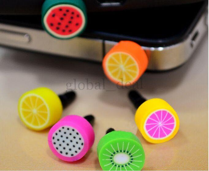 Iphone6 plus Cover Dust Proof Plug Anti Dust Cap Headphone Dustproof 3.5mm Fruit series Anti-Dust Plug