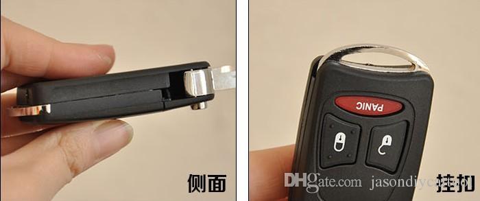 Flip Folding Key Shell for CHRYSLER DODGE for JEEP Commander Remote Key Case Fob 2+1 BUTTONS