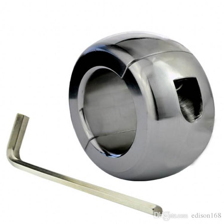3 Taille Nouveau Homme en acier inoxydable stimuler bondage pression Scrotum testicules pendentif anneau outils esclaves chien dispositif de chasteté bdsm sexe A164 jouet