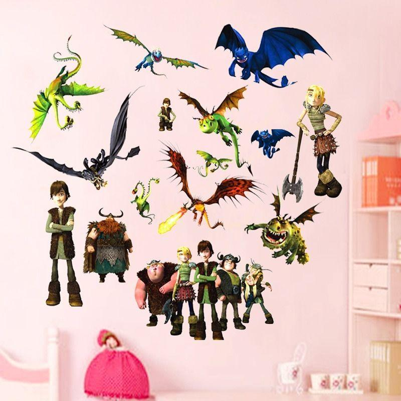 Famous How To Train Your Dragon Wall Stickers Removable Vinyl Art Kids Room  Decals Diy Vinyl Wall Decals Vinyl Wall Decals Kids From Gonglangdianzi01,  ...