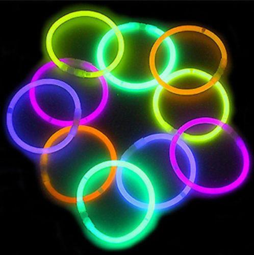 Мульти цвет свечение флуоресценции палочки мигающие браслеты неоновые яркие огни для партии