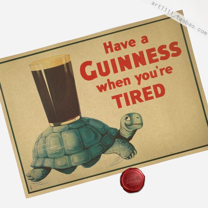 Have A Guinness When U R Tired Vintage Paper Posters Retro Art Wall ...