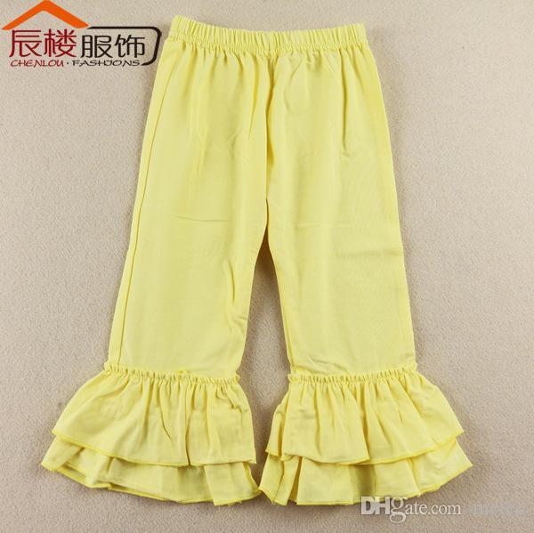 Boutique Ruffle Pants baby kids pants ruffled pant girls solid ruffled cotton leggings christmas pants