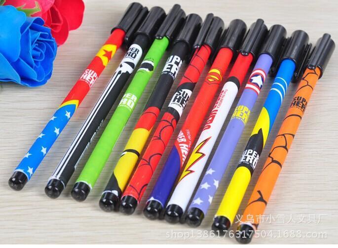 Avengers Gel Pens Cartoon Batman Superman Gel Pen Stationery Novelty Gift  Office Pens Super Hero Cartoons Pen Kawaii School Supplies L0325c From  China Gel ...