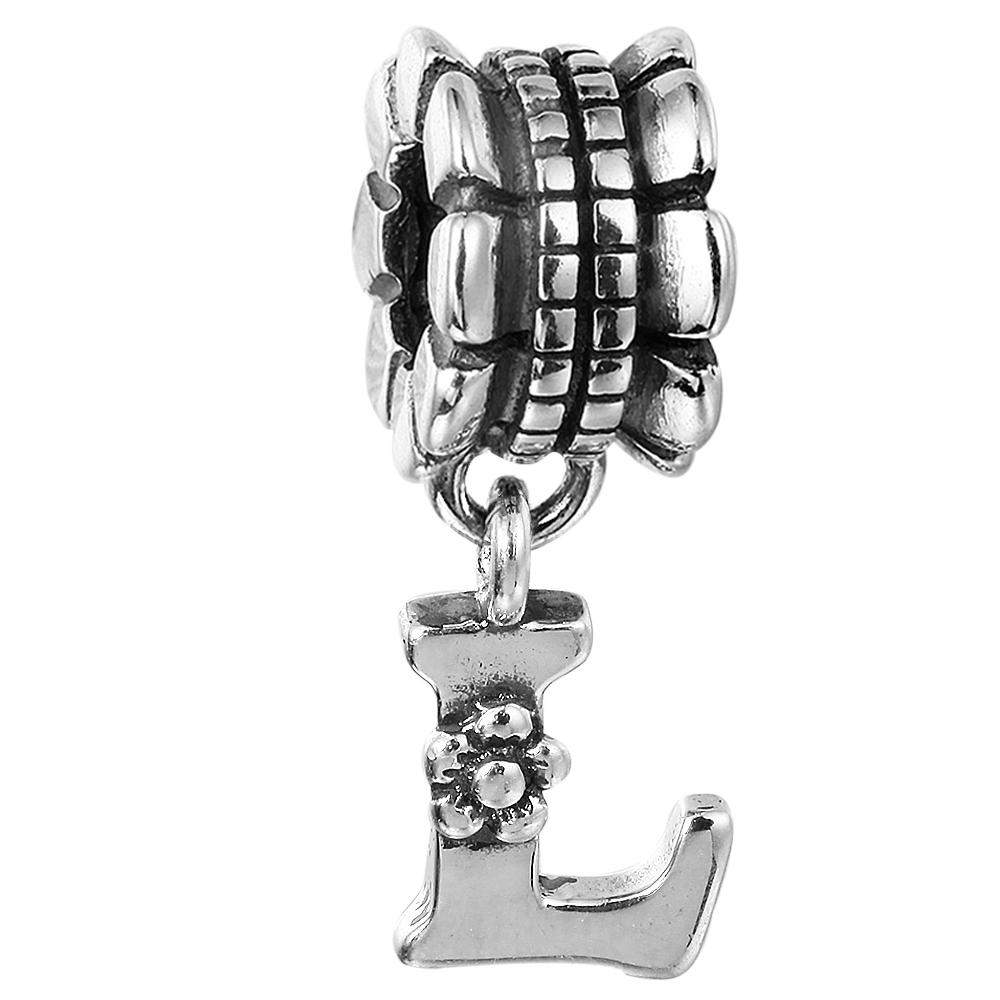 fc3898bf0 2019 Alphabet Dangle L 012 100% 925 Sterling Silver Beads Fit Pandora Charms  Bracelet Authentic DIY Fashion Jewelry From Dh_yuanyuan, $9.14 | DHgate.Com
