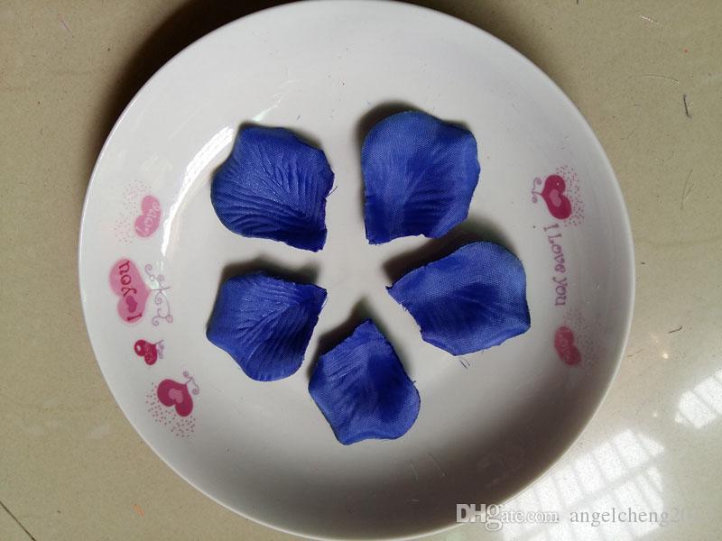 Royal Blue Wedding Table Decoration seta petali di Rosa coriandoli dei fiori di 4.5 * 5cm forniture all'ingrosso