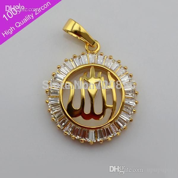 Wholesale wholesale allah pendant charm gold18k gold plated arabic wholesale wholesale allah pendant charm gold18k gold plated arabic islamic high quality zircon jewelry muslim for women menmahometeid item gift silver aloadofball Images