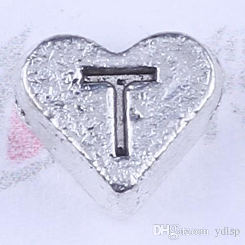 Nueva moda de plata / cobre retro Love Colgante Fabricación DIY joyería colgante collar o pulseras encanto 2000 unids / lote 2738y Número T